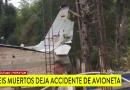 Încă un avion de mici dimensiuni se prăbușește în Columbia. 7 morți și 3 răniți.